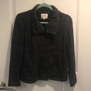 Ann Taylor Loft Small Petite Tweed Jacket Blazer